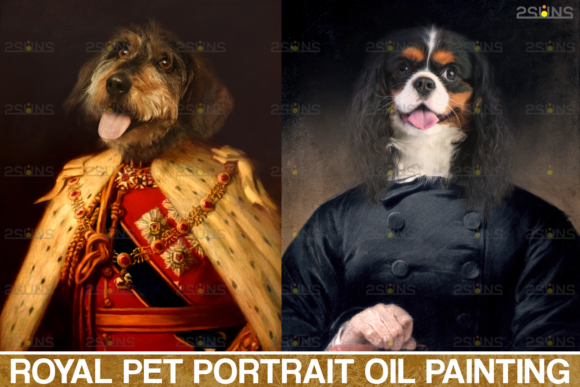 Royal Pet Portrait Templates Photoshop Graphic Actions & Presets By 2SUNS