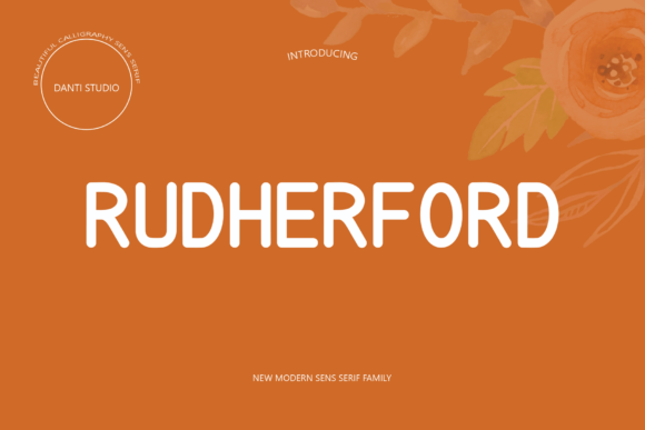 Print on Demand: Rutherford Sans Serif Font By Danti