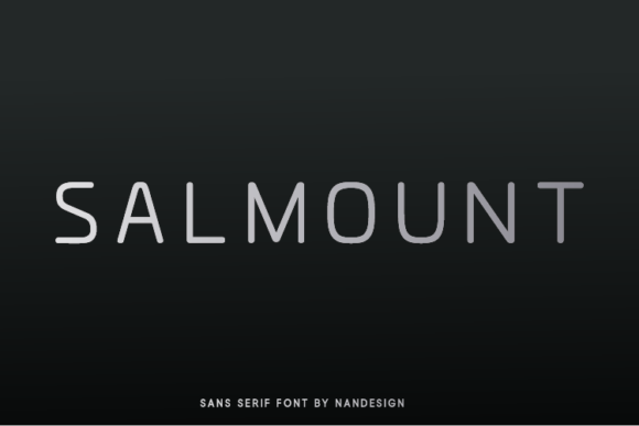 Print on Demand: Salmount Sans Serif Font By Nan Design