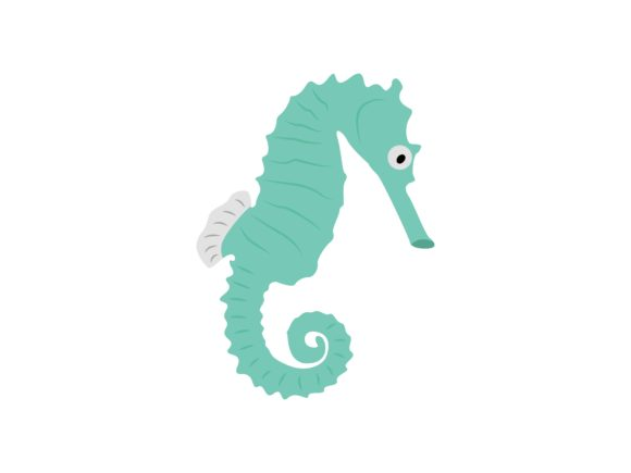 Print on Demand: Seahorse Animal Graphic Illustrations By archshape