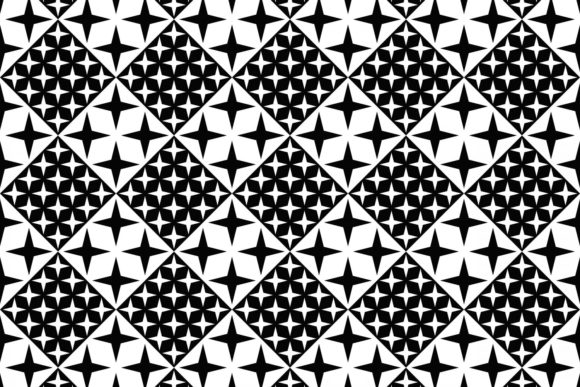 Seamless Black and White Star Pattern Graphic Patterns By davidzydd