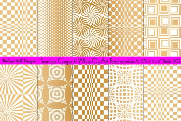 Download Free Seamless Copper Op Art Patterns Graphic By Melissa Held Designs for Cricut Explore, Silhouette and other cutting machines.