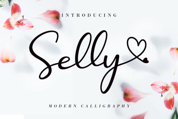 Print on Demand: Selly  Script & Handwritten Font By AEN Creative Studio