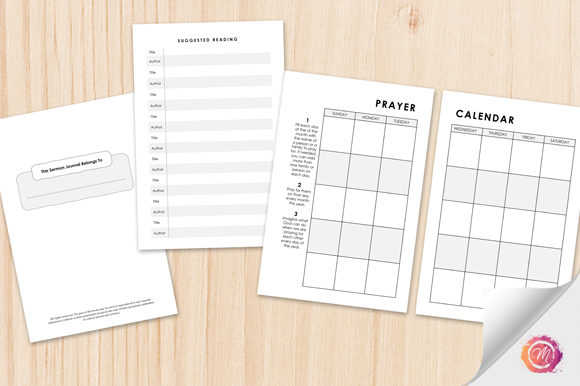 Download Free Sermon Notes Kdp Interior With Options Graphic By Mellbelle Creative Fabrica for Cricut Explore, Silhouette and other cutting machines.