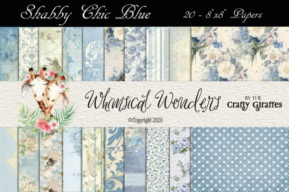 Shabby Chic Blue 20 - Papers Graphic Patterns By WWDPaulyMac2020
