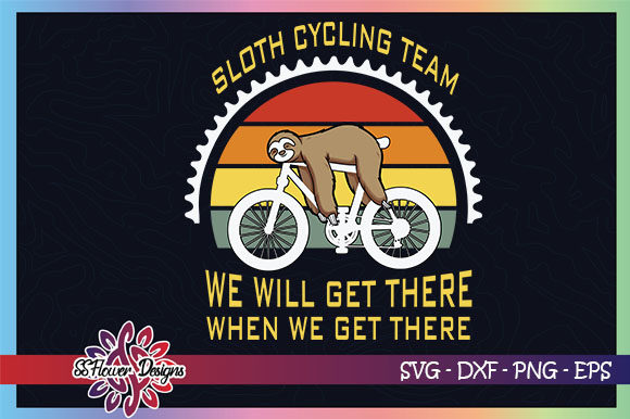 Sloth Cycling Team, Funny Sloth Graphic Crafts By ssflower