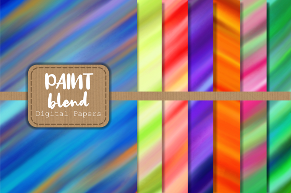 Print on Demand: Smooth Blended Chalky Paint Papers Graphic Backgrounds By Prawny