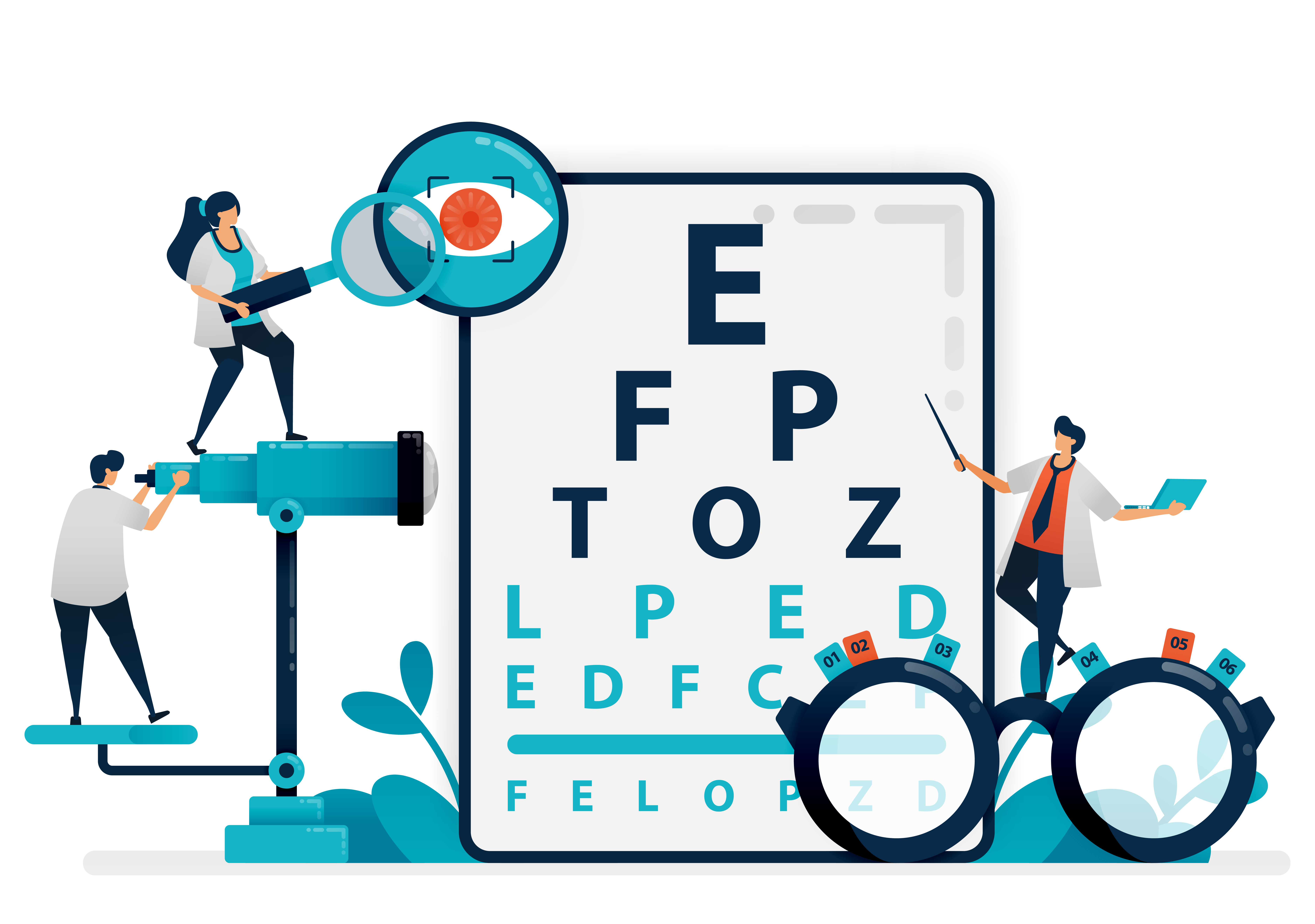Snellen Chart And Eyes Health Graphic By Setiawanarief111