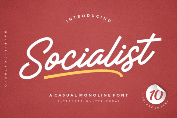 Print on Demand: Socialist Script & Handwritten Font By Balpirick