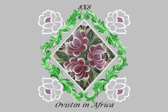 Square Floral Applique Quilt Block Sewing & Crafts Embroidery Design By Ovistin in Africa