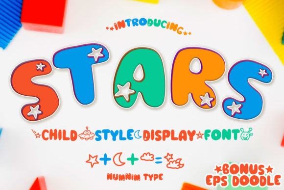Print on Demand: Stars Script & Handwritten Font By numnim
