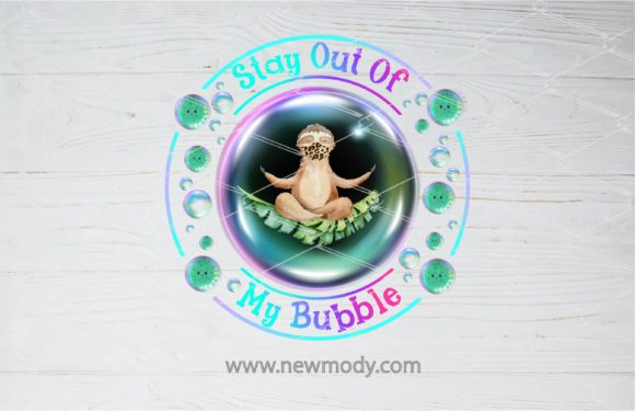 Print on Demand: Stay out of My Bubble -Sloth Graphic Illustrations By Amitta - Image 2