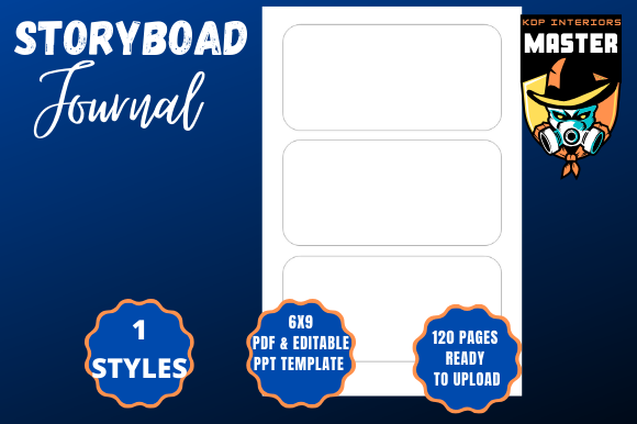 Download Free Storyboard Journal Graphic By Kdp Interiors Master Creative for Cricut Explore, Silhouette and other cutting machines.
