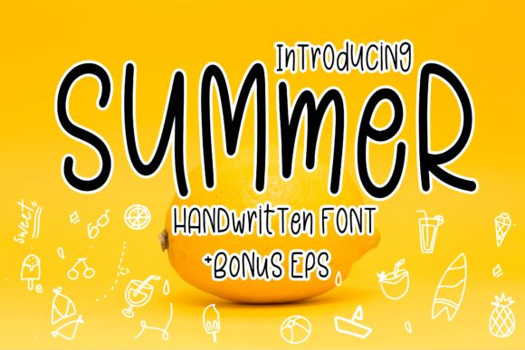 Print on Demand: Summer Display Font By Mr.pagman