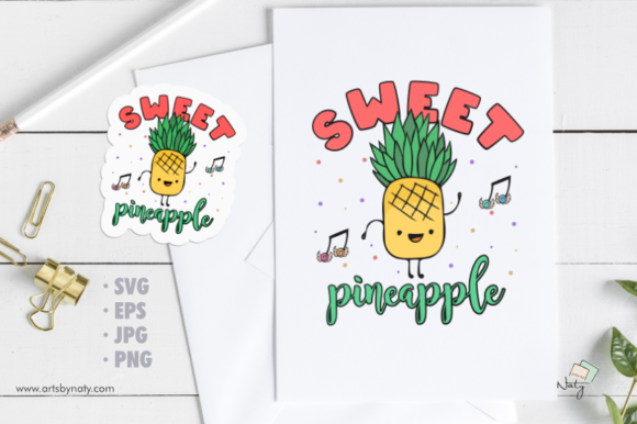 Print on Demand: Sweet Pineapple Illustration. Graphic Illustrations By artsbynaty
