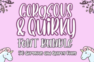Print on Demand: The Gorgeous and Quirky Font Bundle Bundle By Haksen