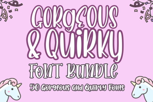 Print on Demand: The Gorgeous and Quirky Font Bundle  By Haksen