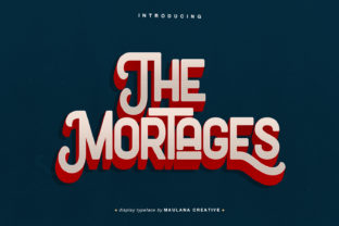 Print on Demand: The Mortages Display Font By Maulana Creative