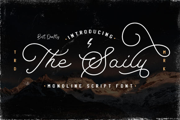 Print on Demand: The Saily Script & Handwritten Font By StringLabs