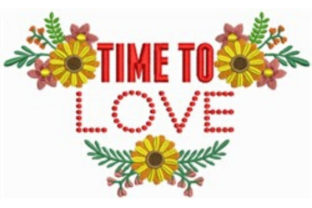 Time to Love Spring Embroidery Design By designsbymira