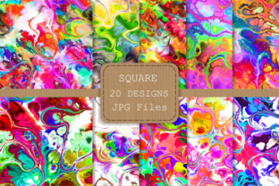 Print on Demand: Totally Funky Digital Marble Papers Graphic Backgrounds By Prawny 2