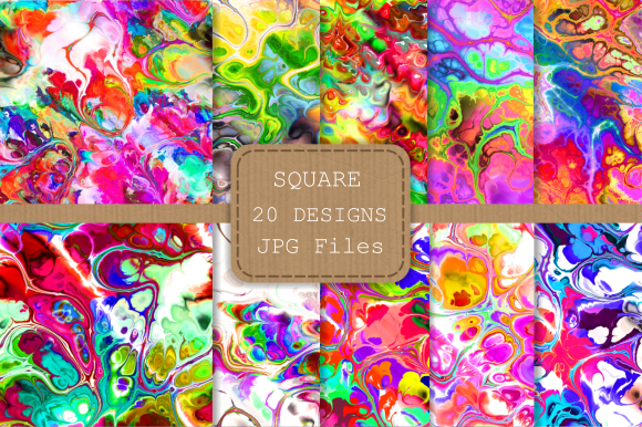Print on Demand: Totally Funky Digital Marble Papers Graphic Backgrounds By Prawny - Image 2