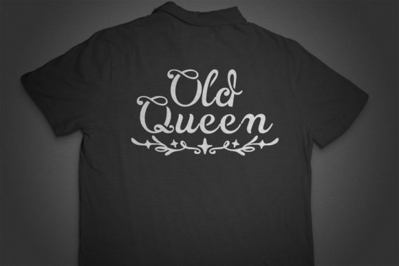 Print on Demand: Vintage Queen Script & Handwritten Font By OWPictures - Image 5