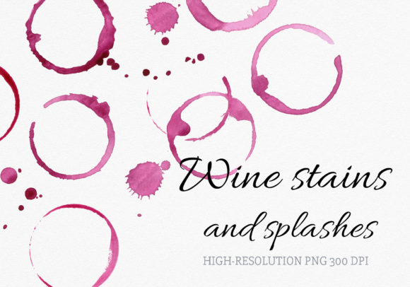 Download Free Watercolor Wine Stains Rings And Splash Graphic By Reddotshouse SVG Cut Files