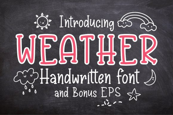 Print on Demand: Weather Display Font By KtwoP