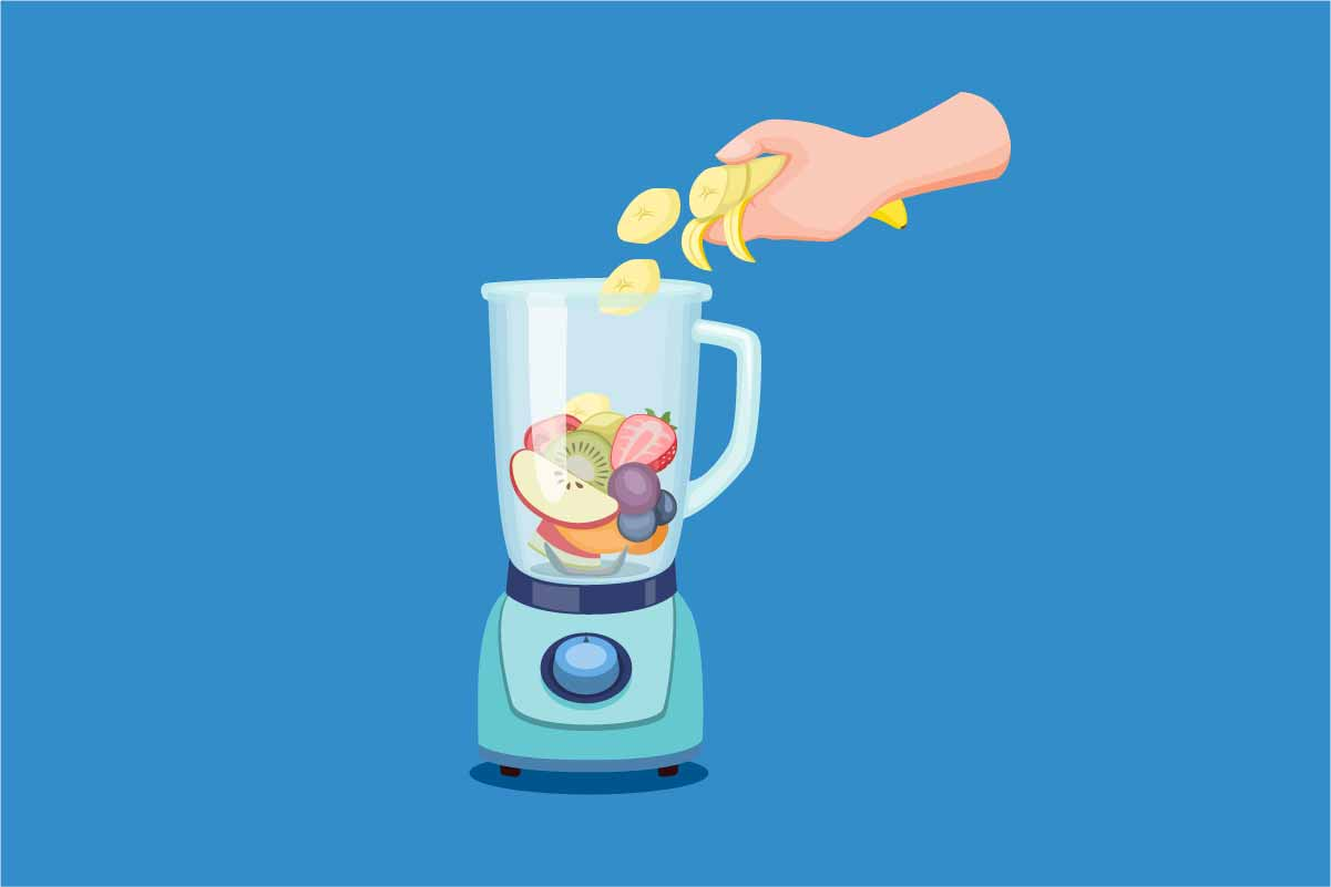 Download Free Hand Slice Fruit Making Juice To Blender Graphic By Aryo Hadi for Cricut Explore, Silhouette and other cutting machines.