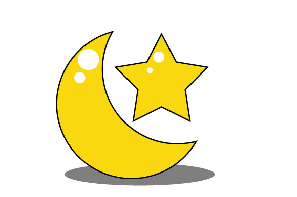 Moon And Stars In Yellow Graphic By Yapivector Creative Fabrica