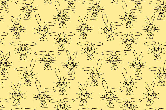 Download Free Rabbit Pattern Graphic By Curutdesign Creative Fabrica for Cricut Explore, Silhouette and other cutting machines.