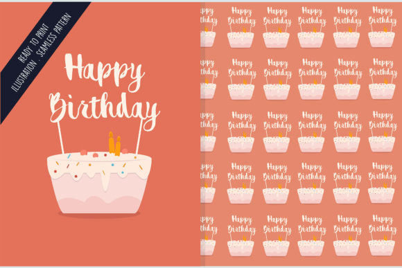 Download Free Seamless Design Pattern Happy Birthday Graphic By Aprlmp276 for Cricut Explore, Silhouette and other cutting machines.