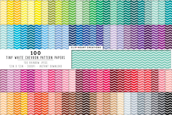 100 Chevron Digital Paper Pack Graphic Backgrounds By clipheartcreations