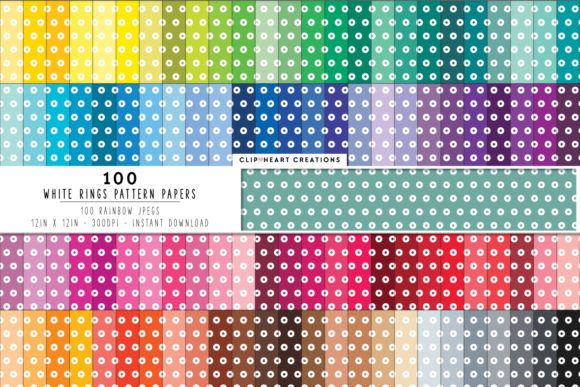 100 Circle Pattern Papers Graphic Backgrounds By clipheartcreations