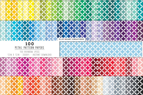 100 Flower Petal Pattern Digital Paper Graphic Backgrounds By clipheartcreations
