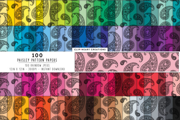 Download Free 100 Heart Pattern Papers Graphic By Clipheartcreations for Cricut Explore, Silhouette and other cutting machines.