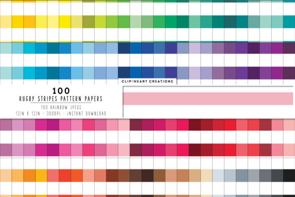 100 Rugby Stripes Pattern Paper Graphic Backgrounds By clipheartcreations