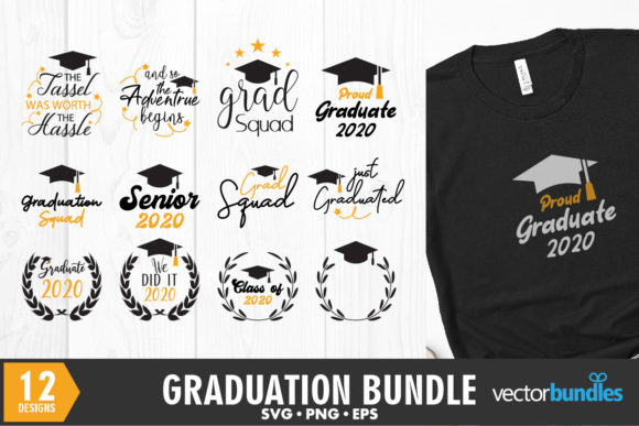 Download Free 12 Graduation Bundle Quotes Graphic By Vectorbundles Creative for Cricut Explore, Silhouette and other cutting machines.