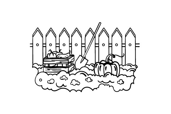 Download Free Vegetable Garden Coloring Page Svg Cut File By Creative Fabrica for Cricut Explore, Silhouette and other cutting machines.