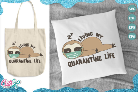 The Quarantine Bundle 30 Designs Graphic Illustrations By Cute files - Image 3