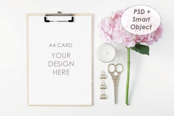 A4 Card Mockup Graphic Product Mockups By thesundaychic