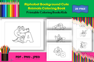Print on Demand: Alphabet Back Cute Animals Coloring Book Graphic Coloring Pages & Books Kids By icutletterstudio
