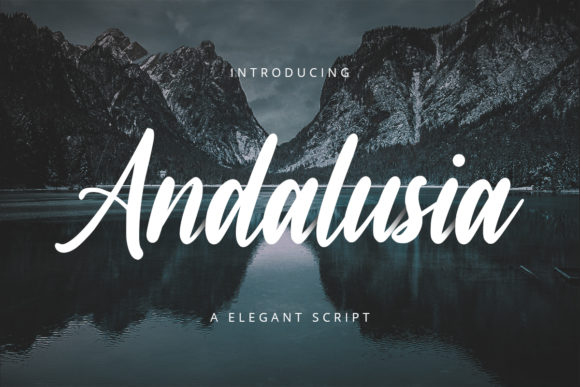 Print on Demand: Andalusia Script & Handwritten Font By FatmaStudio