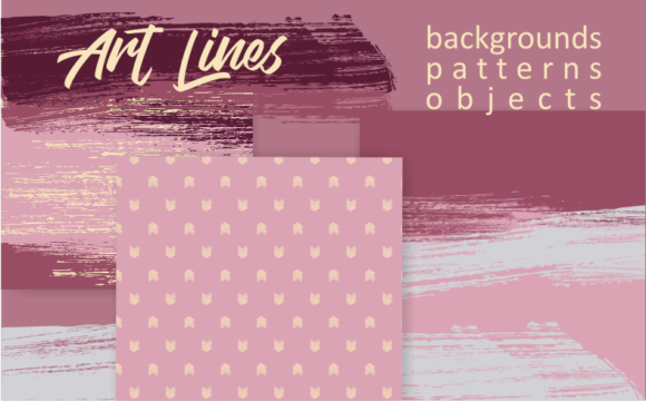 Print on Demand: Art Lines Graphic Backgrounds By Em-Pal
