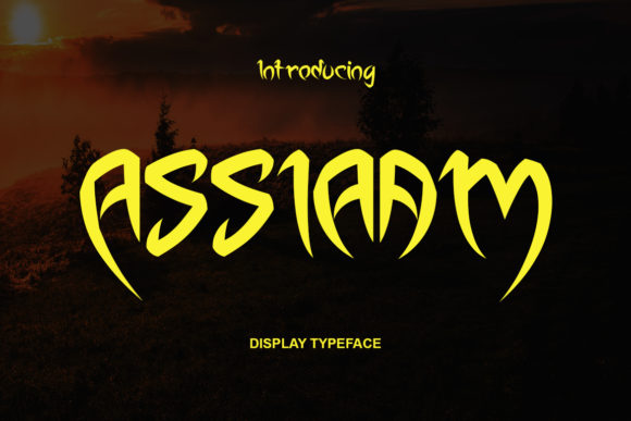 Print on Demand: Assiaam Display Font By Sealoung - Image 1