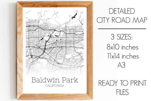 Download Free Baldwin Park California City Map Graphic By Svgexpress for Cricut Explore, Silhouette and other cutting machines.