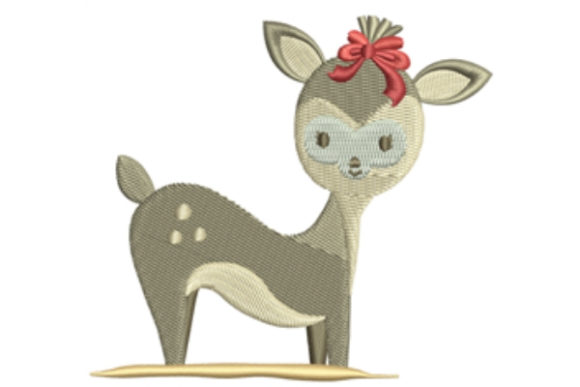 Bambi Deer Baby Animals Embroidery Design By designsbymira