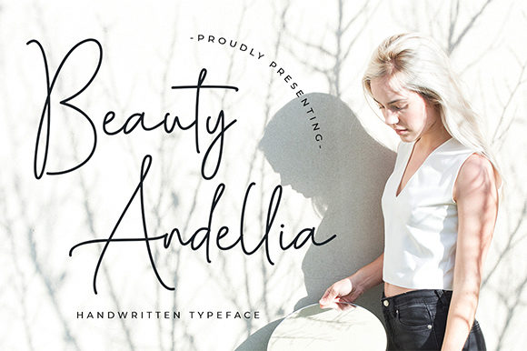 Print on Demand: Beauty Andellia Script & Handwritten Font By Bluestype Studio