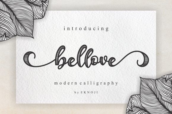 Print on Demand: Bellove Script & Handwritten Font By EKNOJI